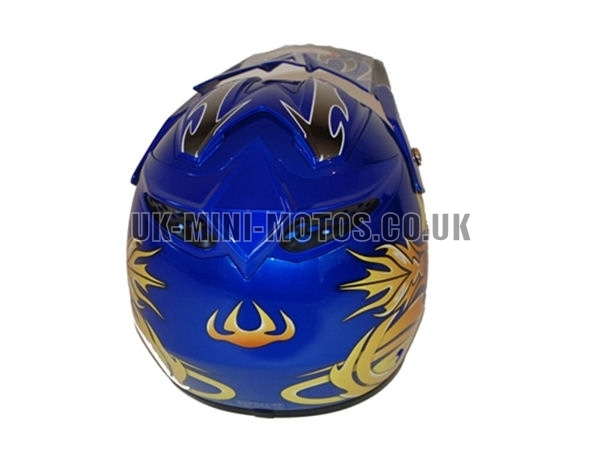 Helmets Blue Motorcross Adult And Kids Helmets Blue