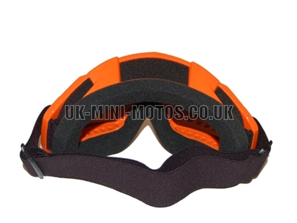 Helmet Goggles Orange - Adult Helmet Goggles Orange - Motorcycle Goggles Orange - Motorbike Goggles - Motorcross Helmet Goggles Orange