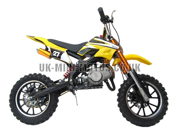 mini dirt bike big wheels mini dirt bike yellow yellow. Black Bedroom Furniture Sets. Home Design Ideas