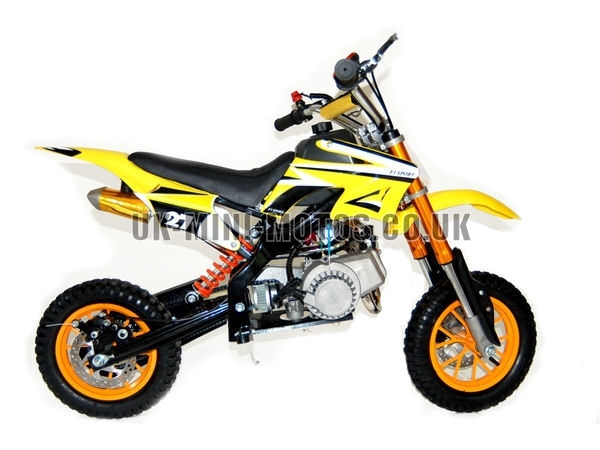 Mini Dirt Bike - Mini Dirt Bike DB02 yellow - Mini dirt bike