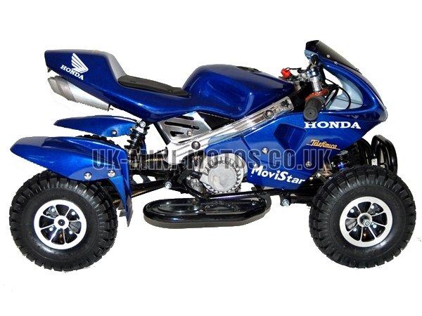 mini quad bikes mini quad bike blue mini moto quads blue. Black Bedroom Furniture Sets. Home Design Ideas