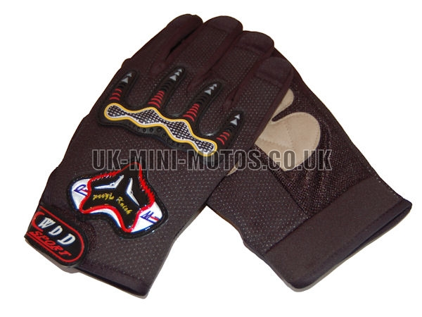 black Motorbike Gloves - Adult and Kids Motorbike Gloves - Motorcross Gloves - Motorcycle Gloves - black Trials Gloves
