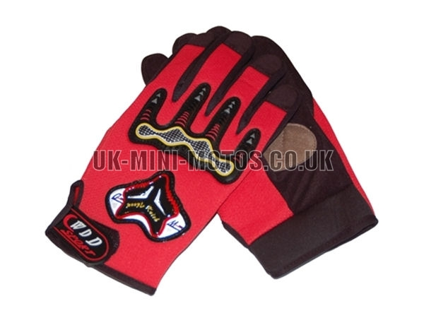 Motorbike Gloves Red - Adult and Kids Motorbike Gloves - Motorcross Gloves - Red Motorcycle Gloves - Trials Gloves