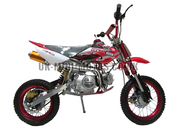 Dirt Bikes - Pit Bikes - 110cc Pit Bike -  Dirt Bike Red
