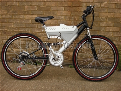 Electric Bikes - Wrangler Electric Bike Black / Silver - Electric Bikes