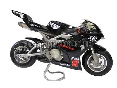 Water Cooled Mini Motos - Liquid Cooled Minimotos - Black Liquid Cooled Pocket Bikes
