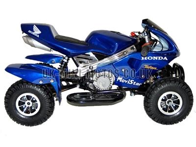 mini quad bikes mini quad bike blue mini moto quads blue. Black Bedroom Furniture Sets. Home Design Ideas