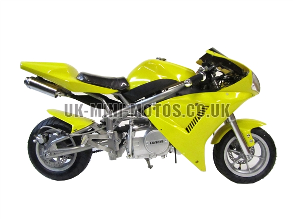 Midi Moto Dirt Bike - Midi Moto HC-113 Yellow - Midimoto - Midi Dirt Bikes - Midi Bike