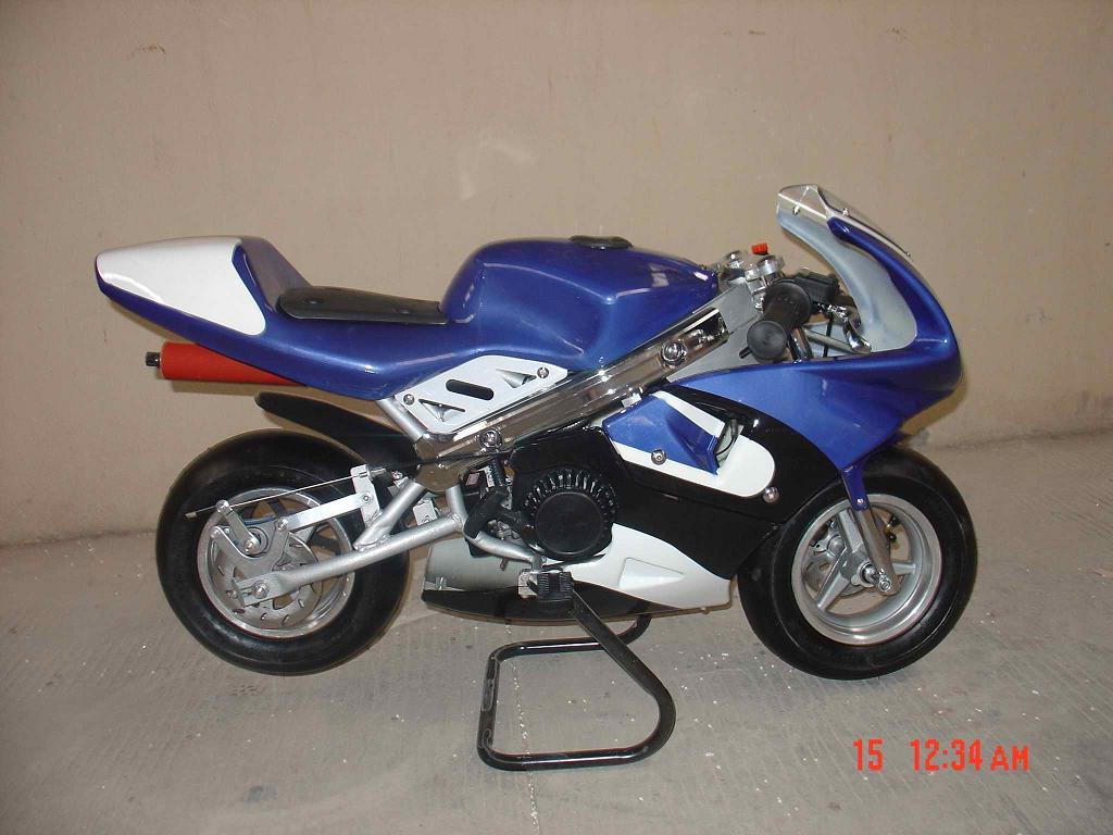 mini motos blue minimoto mini motos pocket bikes. Black Bedroom Furniture Sets. Home Design Ideas
