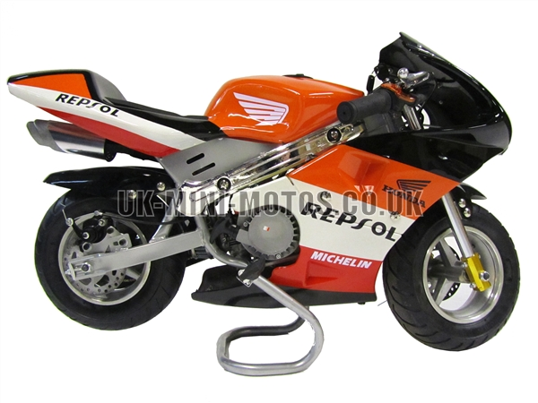 mini motos minimoto pocket bikes repsol mini moto. Black Bedroom Furniture Sets. Home Design Ideas