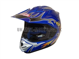 Motorcross Helmets Blue - Adult and Kids Motorcross Helmets Blue - Motorcycle Helmets Blue - Crash Helmets Blue - Motorbike Helmets Blue