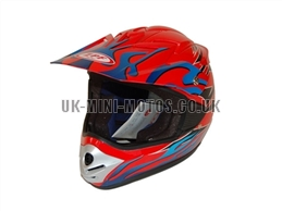 Motorcross Helmets Red - Adult and Kids Motorcross Helmets Red - Motorcycle Helmets Red - Crash Helmets Red - Motorbike Helmets Red