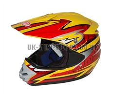 Motorcross Helmets Yellow - Adult and Kids Motorcross Helmets Yellow - Motorcycle Helmets Yellow - Crash Helmets Yellow - Motorbike Helmets Yellow