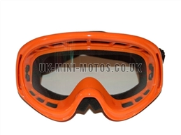 Kids Helmet Goggles Orange - Childrens Helmet Goggles Orange - Kids Motorcycle Goggles Orange - Kids Motorbike Goggles - Kids Motorcross Helmet Goggles Orange