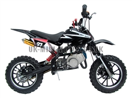 Mini Dirt Bike - DB02-C Black Mini dirtbike - Mini Dirt Bikes  - Pocket Bikes - Minimotos - Mini Moto