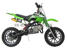 Mini Dirt Bike - DB02-C Green Mini dirtbike - Mini Dirt Bikes  - Pocket Bikes - Minimotos - Mini Moto