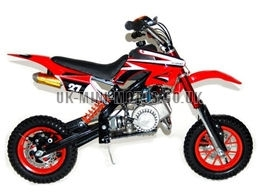 Mini Dirt Bike - DB02-C Red Mini dirtbike - Mini Dirt Bikes  - Pocket Bikes - Minimotos - Mini Moto