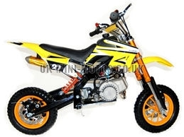Mini Dirt Bike - DB02-C Yellow Mini dirtbike - Mini Dirt Bikes  - Pocket Bikes - Minimotos - Mini Moto