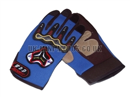 Blue Motorbike Gloves - Adult and Kids Motorbike Gloves - Motorcross Gloves - Motorcycle Gloves - Blue Trials Gloves
