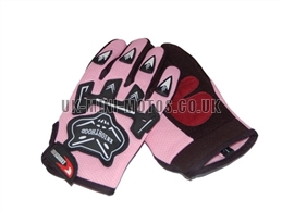 Pink Motorbike Gloves - Adult and Kids Motorbike Gloves - Motorcross Gloves - Motorcycle Gloves - Pink Trials Gloves