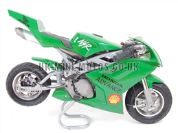 Water Cooled Mini Motos - Minimoto - Pocket Bikes - Green Water Cooled Mini Moto