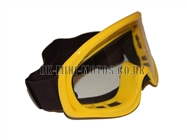 Kids Helmet Goggles Yellow - Childrens Helmet Goggles Yellow - Kids Motorcycle Goggles Yellow - Kids Motorbike Goggles - Kids Motorcross Helmet Goggles Yellow