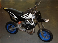 Midi Moto - Midi Dirt Bike - black / white flames Midimoto