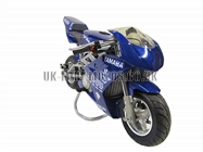 Water Cooled Mini Motos - Minimoto - Pocket Bikes - Blue Water Cooled Mini Moto